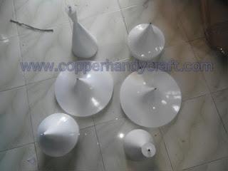 lampu gantung minimalis tembaga warna warni