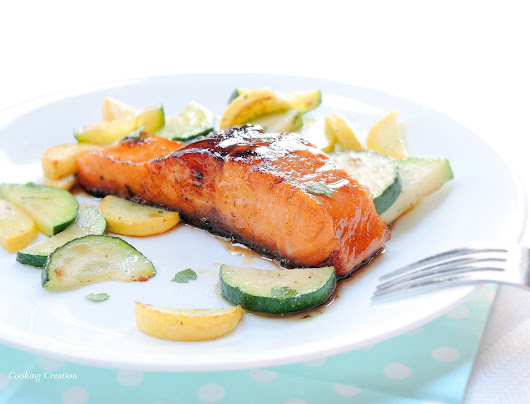 Cooking Creation: Spicy Honey-Glazed Salmon... and a New Member of the Family!
