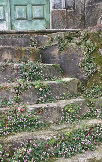 Detalhe da escadaria da Igreja dos Pretos de Ouro Preto