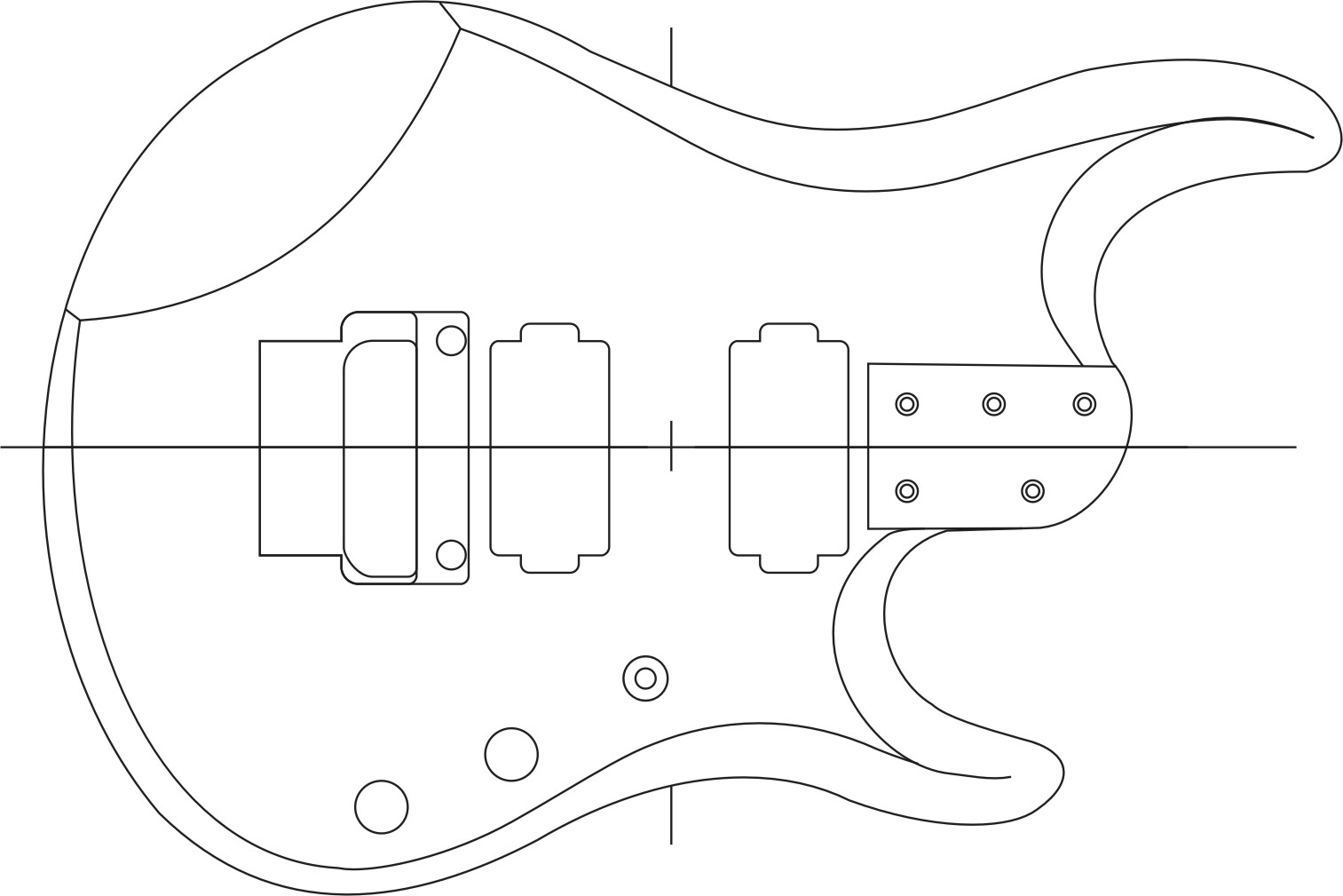 Build guitar for Bass guitar body templates