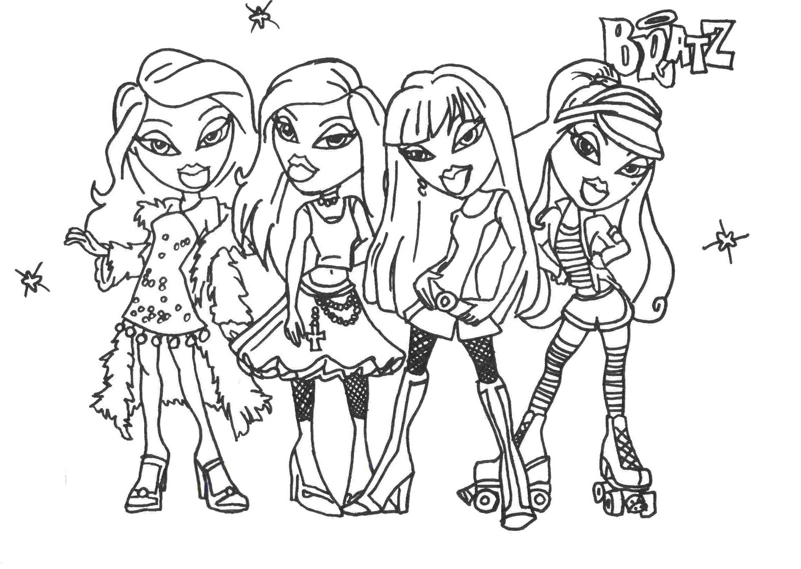bratz coloring book pages - photo #19