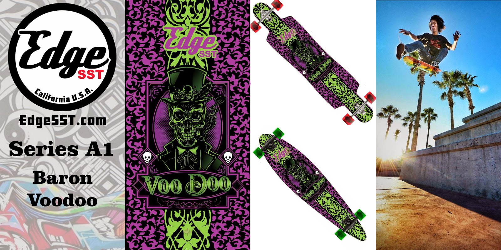 Edge SST Skateboard Series A1: Baron Voodoo Skateboard