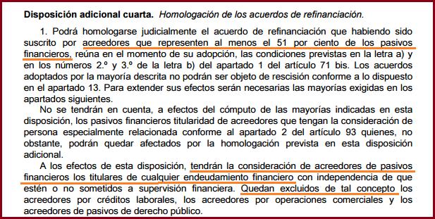 Disposición Adicional 4ª Ley Concursal