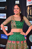 Nandita Swetha in a tight Green Choli Ghagra at IIFA Utsavam Awards March 2017 ~ 034.JPG