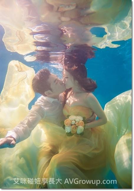 水中婚紗-婚紗景點-婚紗禮服