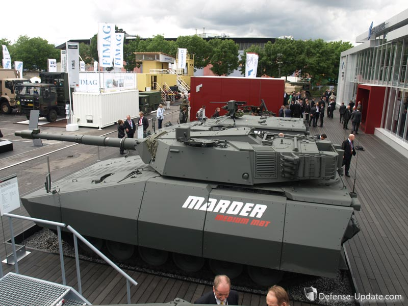 Marder turret Oto Melara Hitfact 120mm