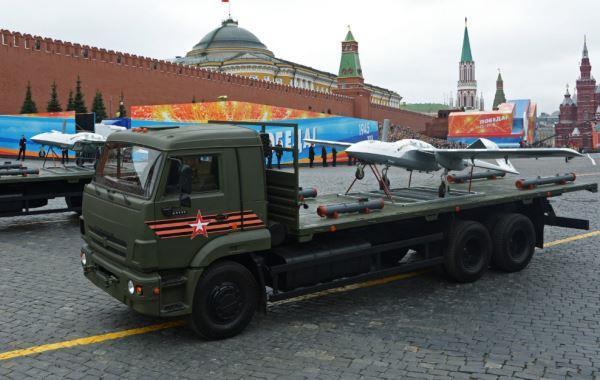 UAV Korsar diangkut truk