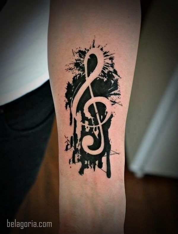 110 Elegantes Tatuajes Musicales Para Vosotras Belagoria La Web