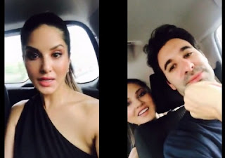 Sunny Leone saved from aeroplane crash. She was accompanied by her husband Daniel.