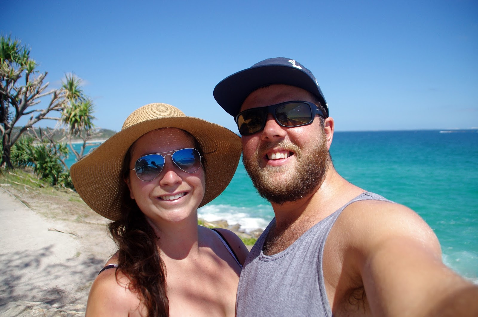 Couple holidaying on Stradbroke Island Queensland