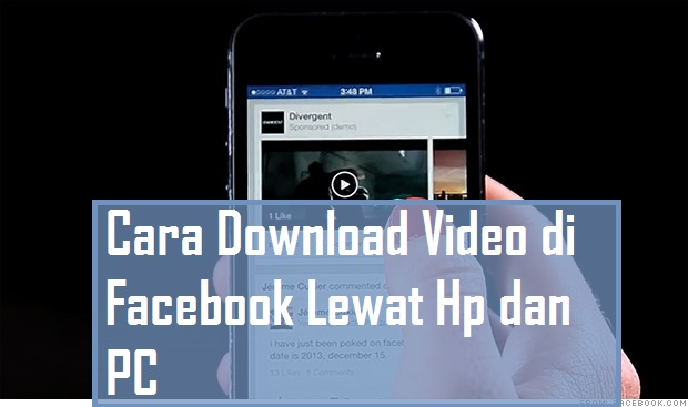 Cara download video facebook di hp android.
