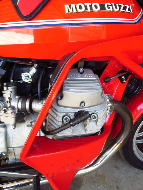 Moto Guzzi V65 SP Engine