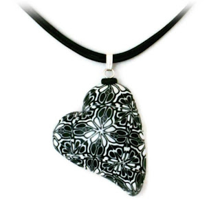 My Have a Heart Polymer Clay Pendant, created using CraftArtEdu's Tutorial