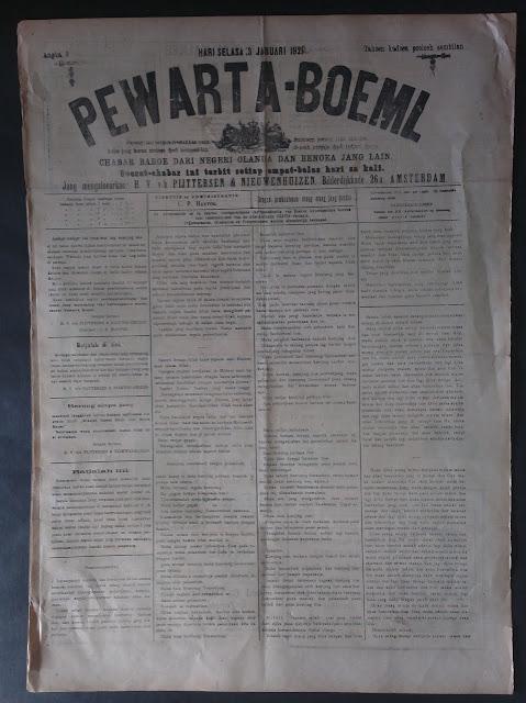 koran tua koran pewarta bumi