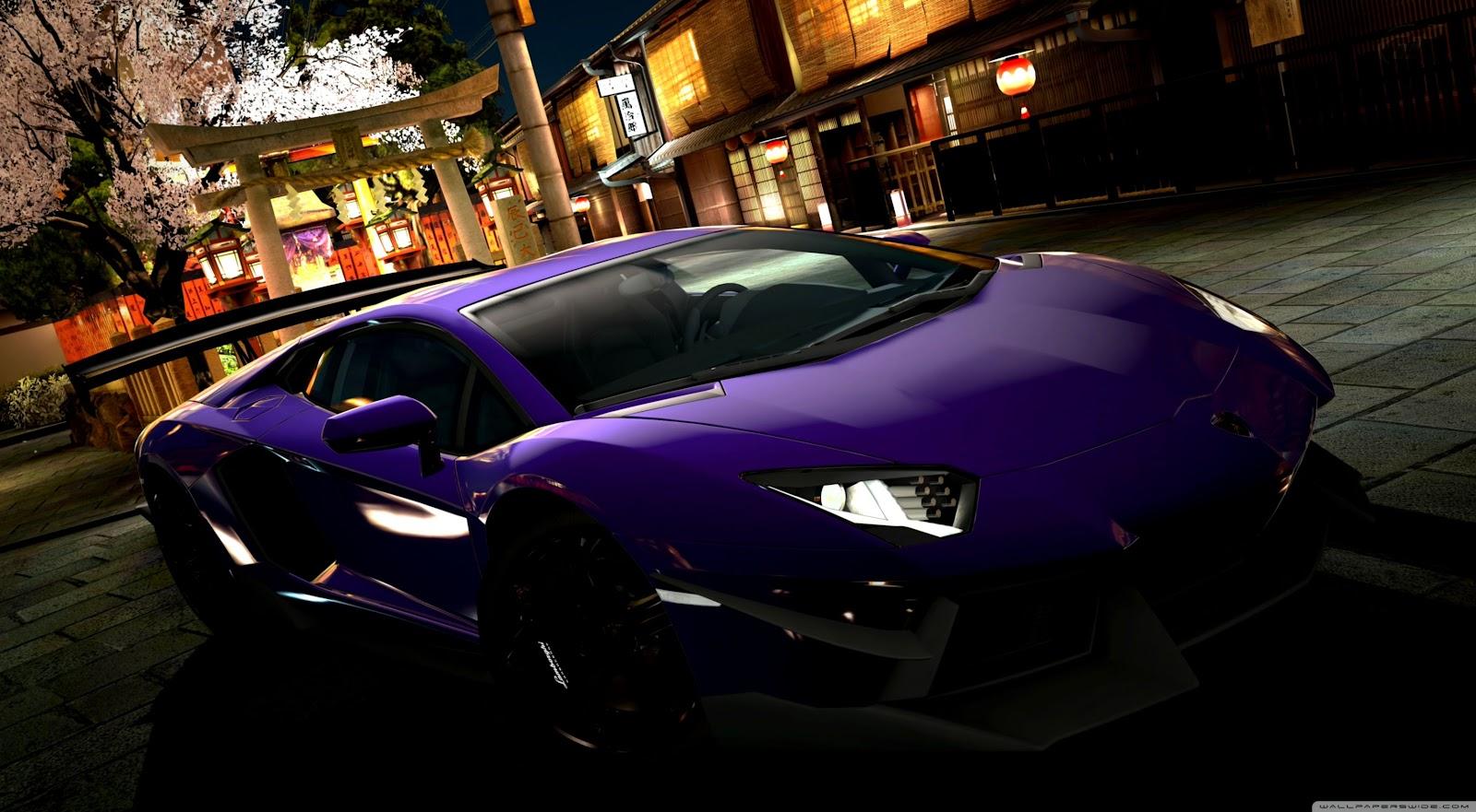 Lamborghini Aventador Purple Wallpaper Desktop Wallpapers