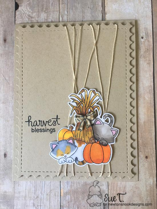 Harvest Blessings by Sue features Framework and Autumn Newton by Newton's Nook Designs; #newtonsnook