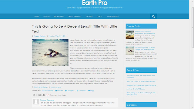 image of Earth pro template
