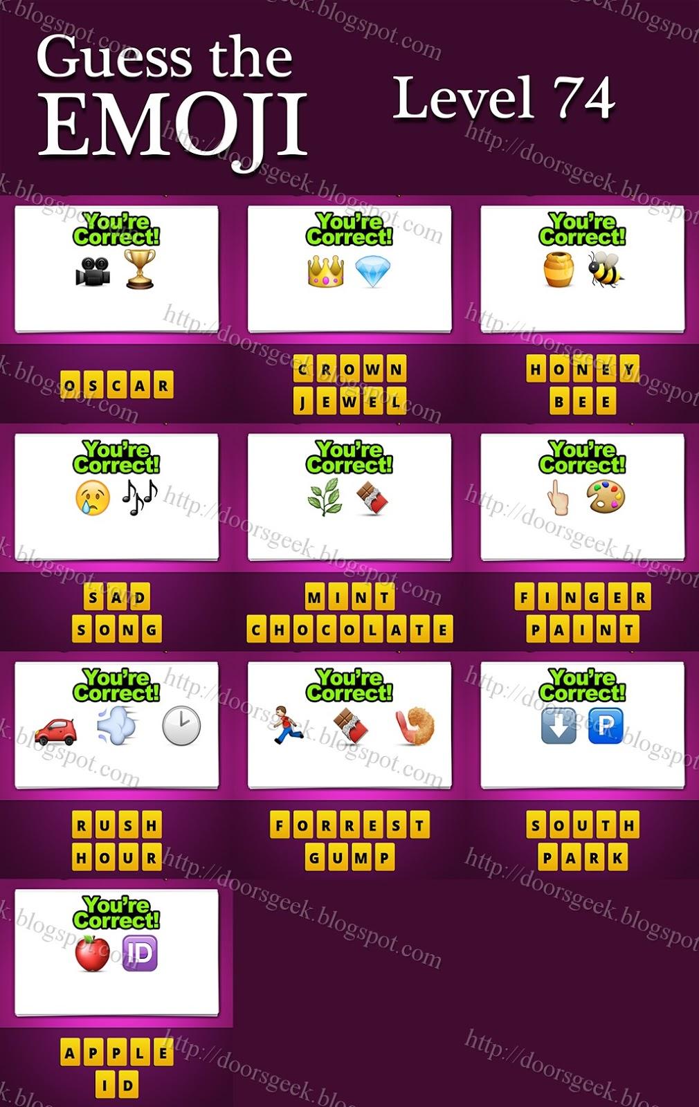 Emoji Quiz Answers Level 21 Quiz