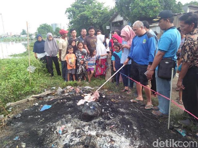 Jasad Bayi Ditemukan Terbakar di Tumpukan Sampah