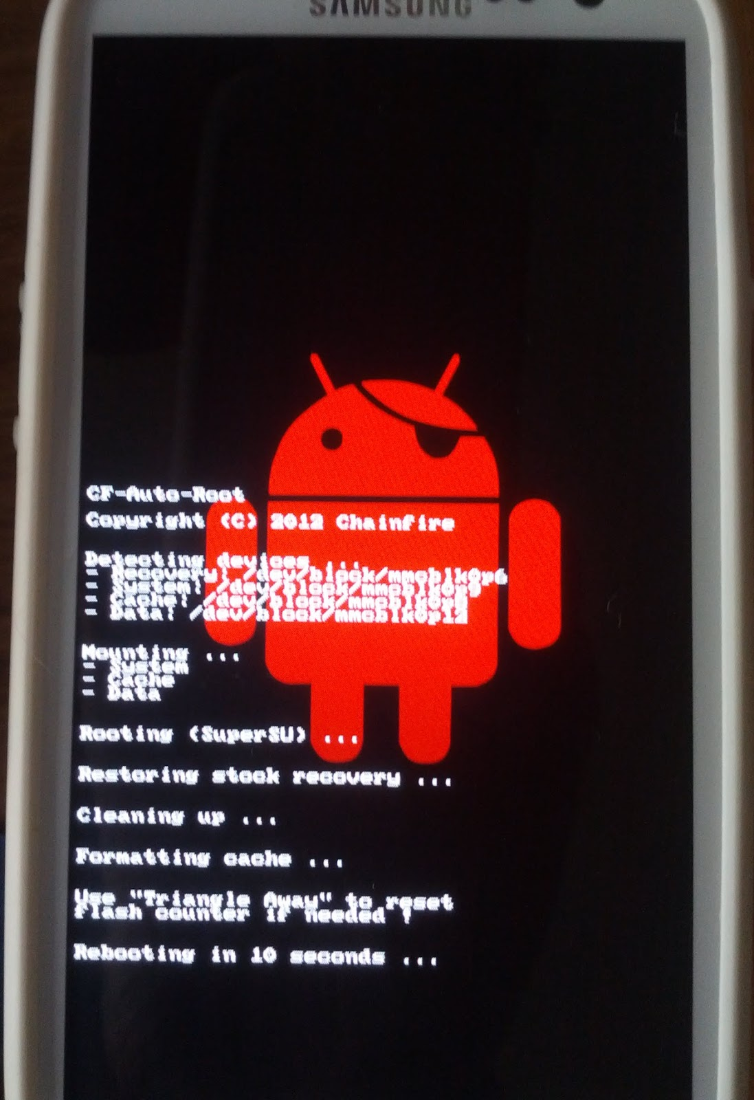 Samsung Galaxy S3 - CF-Auto-Root ~ Apps do Android