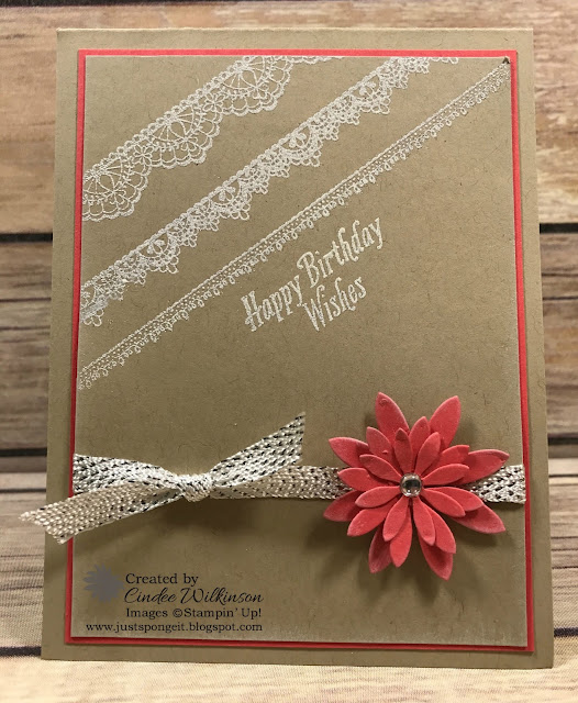 Delicate Details Birthday Card, Sale-a-bration Ends Friday