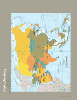 Apoyo Primaria Atlas de Geografía del Mundo 5to. Grado Capítulo 3 Lección 1 División Política de Asia