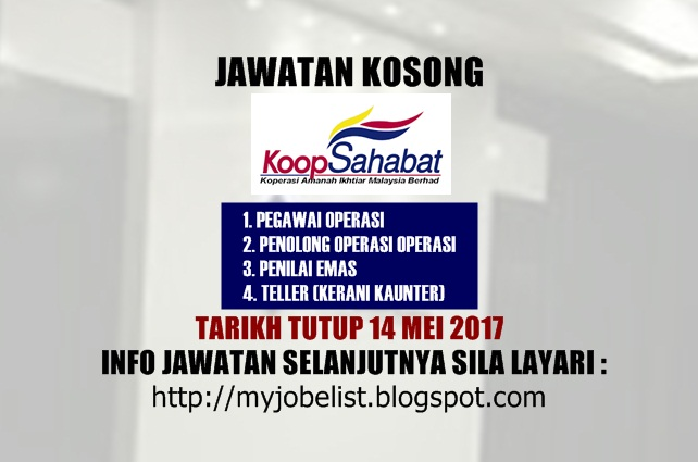 Jawatan Kosong Koperasi Amanah Ikhtiar Malaysia Berhad 2017
