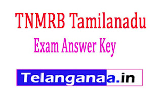TNMRB (Tamilanadu) Assistant Surgeon Exam Answer Key 2018