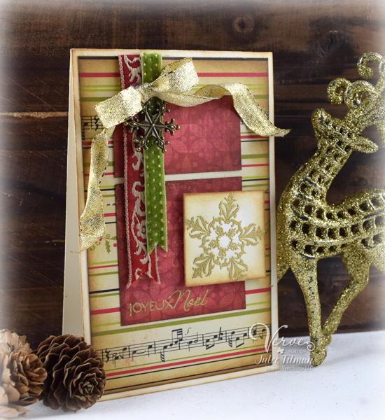 Joyeux Noel by Julee Tilman for Verve Stamps | poeticartistry.blogspot.com | #vervestamps #cardmaking