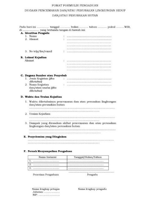 formulir pengaduan