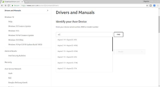 Cara Update BIOS Acer ke Versi Terbaru (Acer E5 476G)