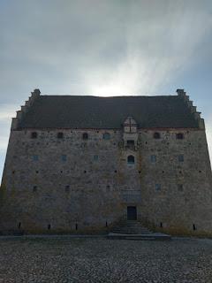 Glimmingehus enda ingång sett ifrån Borggården