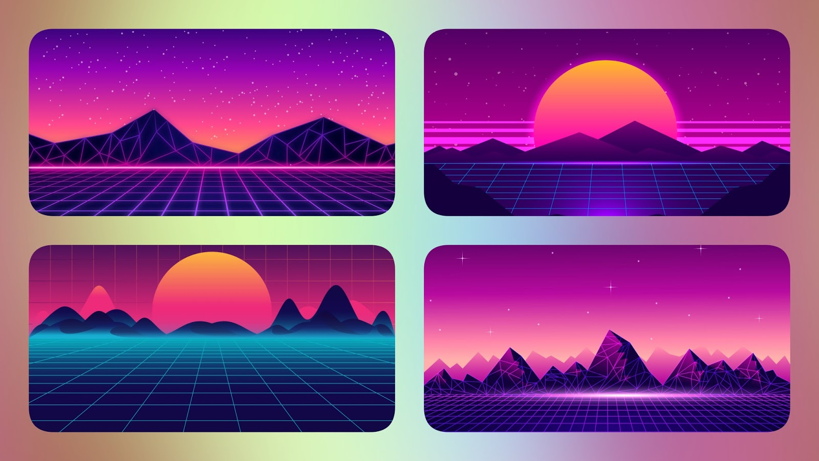 Download 4 synthwave desktop wallpapers