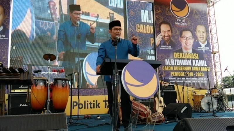Deklarasi Ridwan Kamil jadi cagub pilihan Nasdem