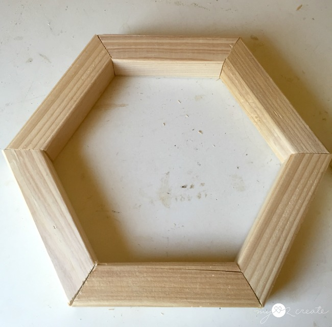 wood hexagon