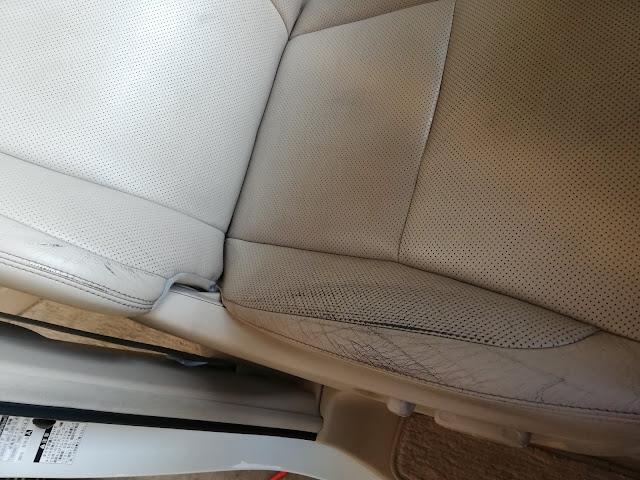 トヨタ/ヴェルファイア  革シートの擦れ補修before/after