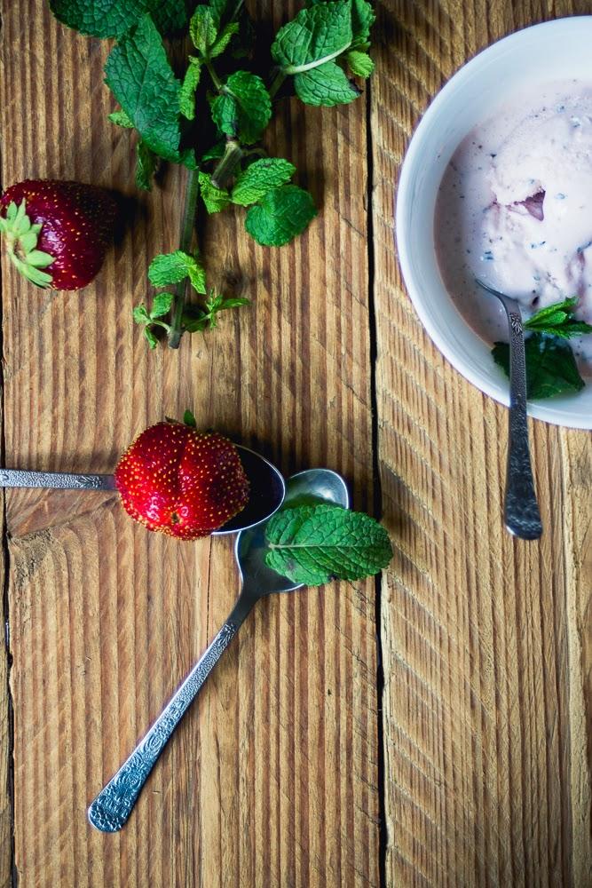strawberry mint ice cream recipe