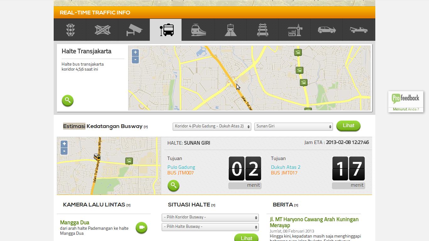 Berarti Teknologi dalam hal Rute Bustransjakarta sangant cangih kalo  menurut saya teknologi yang digunakan mengunakan GPS dan langsung ke update  ke situs ...