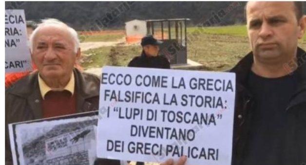 Alcuni manifestanti in Dragot protestano