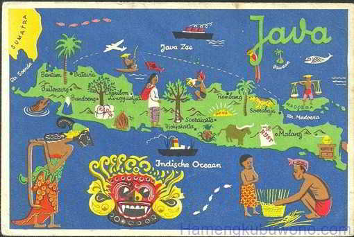 gambar Peta Budaya Jawa dengan Animasi