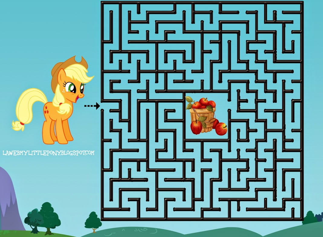 My Little Pony: Imprime y completa el Laberinto de Applejack