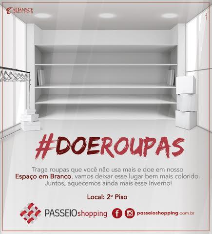 Campanha solidária do Passeio Shopping vai arrecadar roupas para  instituição de Campo Grande d864ecb352673