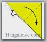 Bước 3: Mở lớp giấy trên cùng ra, kéo sang bên phải.