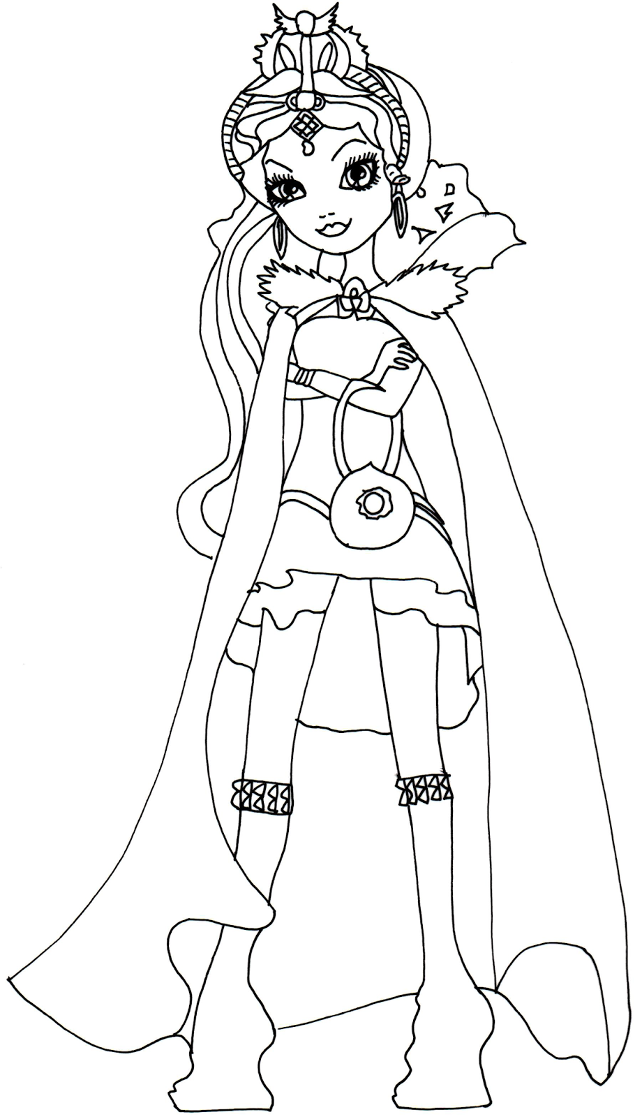 Free Printable Ever After High Coloring Pages: Raven Queen