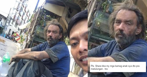 Foreigner who came in the Philippines became a beggar after helping Filipino friends