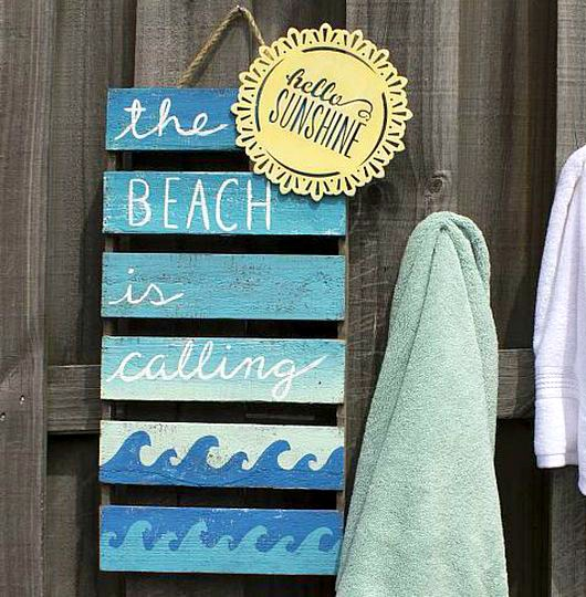 Diy Beach Sign Ideas From Michaels With Wave Patterns