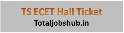 TS ECET Hall Ticket 2017