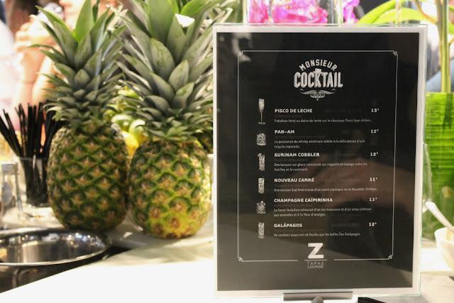 Cocktail au bar du Z Tapas