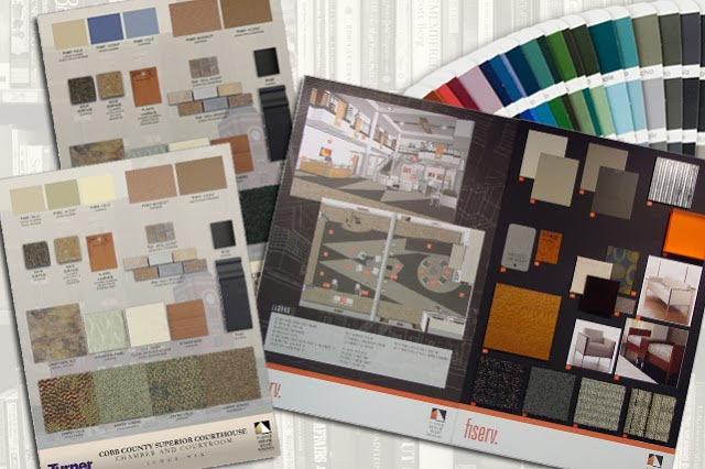 Interior design materials finishes onlinedesignteacher for Interior decoration with waste material