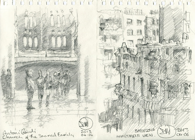 Sketches of Barcelona by David Meldrum